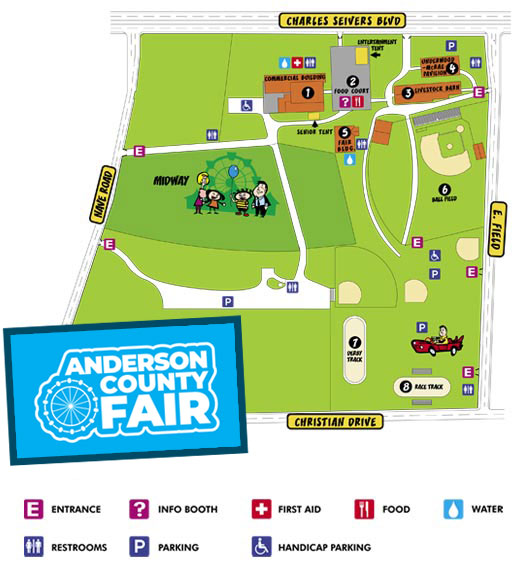 Anderson County Fair Map